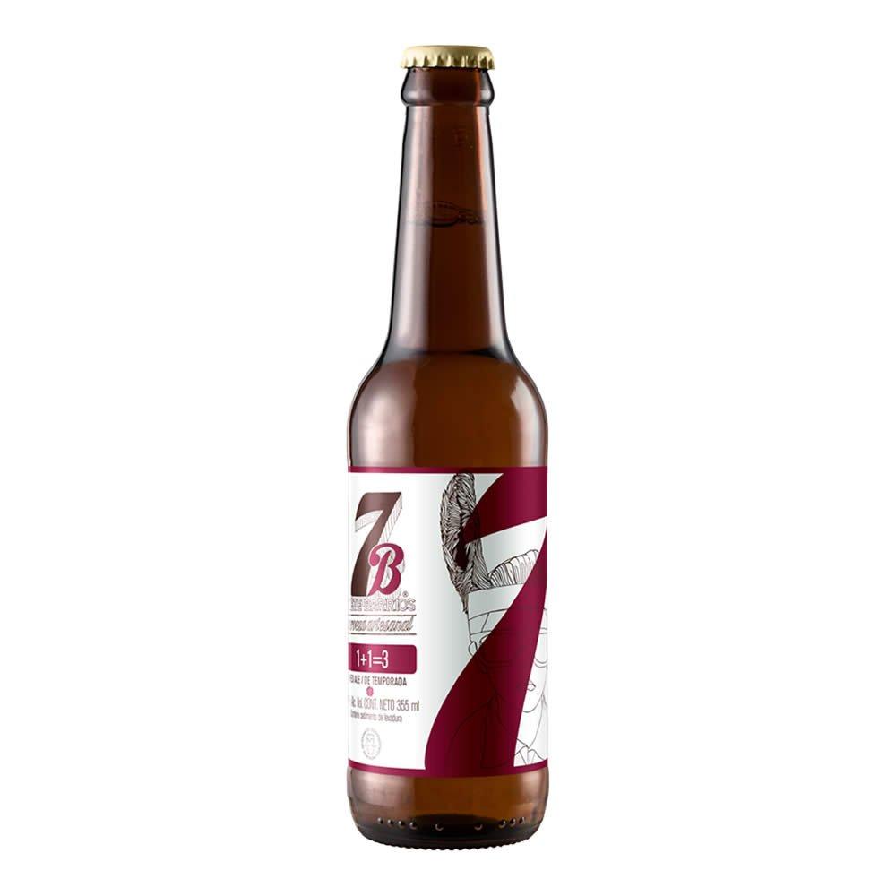 Cerveza 7barrios uno mas uno