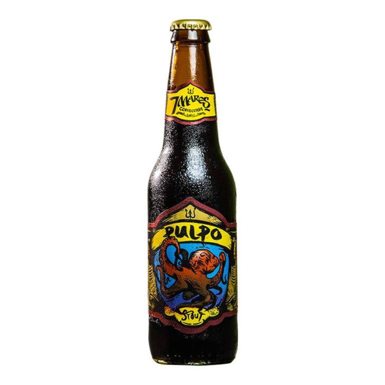 Cerveza 7 mares pulpo