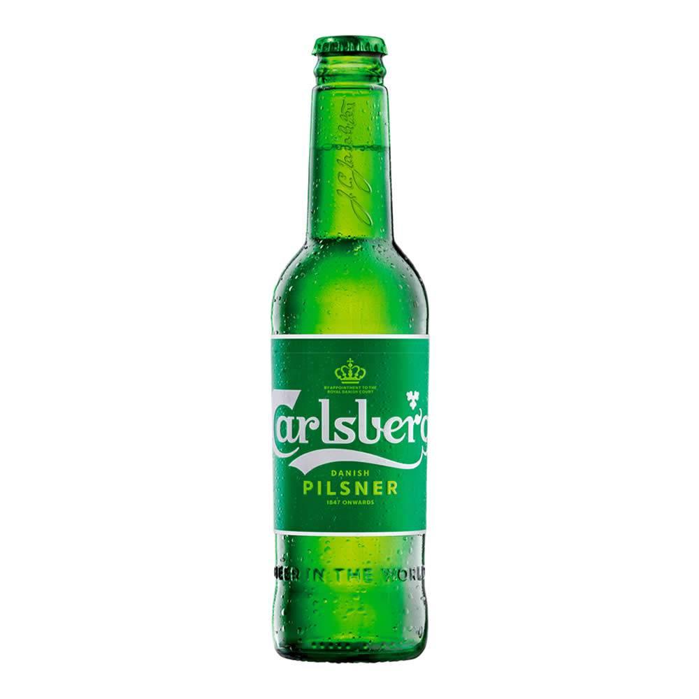 Cerveza carlsberg pilsner botella